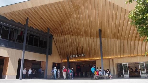 Railways incorporating more wood in train stations to give them rustic, natural feel