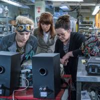 Back off guys, we're scientists: Kate McKinnon as Dr. Jillian Holtzmann, Kristen Wiig as Dr. Erin Gilbert and Melissa McCarthy as Dr. Abby Yates, the three ghost-hunting scientists in 'Ghostbusters.'