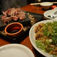 Cheap chops: Meat is the main draw at Nikusakaba Buzz. | J.J. O'DONOGHUE