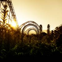 Deep in the weeds: Nara Dreamland's wooden rollercoaster is surrounded by dense undergrowth. | JORDY MEOW
