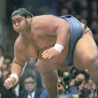 Heavy genes: Weighing 287 kilograms at his peak, Konishiki was the heaviest sumo wrestler ever, earning him the nickname 'The Dump Truck.' | KYODO
