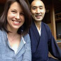 Fresh ideas: American Gretchen Miura lives with her husband, Keno, at Dairyuji, a temple on the picturesque Oga Peninsula in Akita Prefecture. Miura believes it is important to be a part of the community she lives in.   COURTESY OF GRETCHEN MIURA