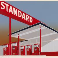 Ed Ruscha's 'Standard Station (Red)' (1966) | © ED RUSCHA, COURTESY GAGOSIAN GALLERY, UBS ART COLLECTION