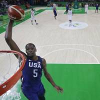 U.S. routs Serbia for third straight gold in men's basketball