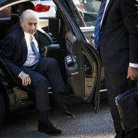 Blatter makes appearance at CAS to appeal six-year ban