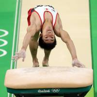 Shirai takes bronze in vault with new trick