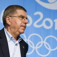 Bach defends IOC decision to not ban Russian team