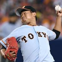 Giants' Taguchi tosses first shutout of career