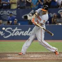 Orioles move back into first place in AL East