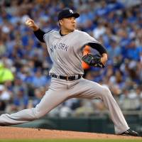 Yankees edge Royals after strong outing by Tanaka