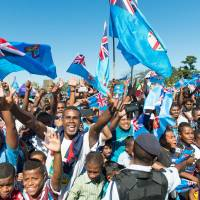 Fiji rugby sevens team receives hero's welcome upon return home