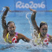 Japan's Inui, Mitsui win synchronized swimming duet bronze in Rio