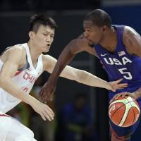 Durant, U.S. men cruise past China in Rio opener