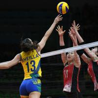 Japan loses to host Brazil in women's volleyball