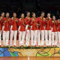 China prevails over Serbia to capture gold in women's volleyball