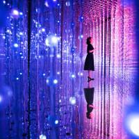 Wander through the Crystal Universe | TEAMLAB, 2016, INTERACTIVE DIGITAL INSTALLATION