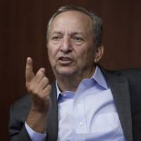 Lawrence 'Larry' Summers, former U.S. Treasury secretary, speaks during a question-and-answer session with the media at a workshop hosted by the Bank of Japan and the Bank of Canada at BOJ headquarters in Tokyo on Friday. | BLOOMBERG