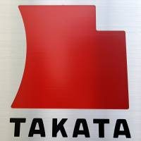 The logo of Takata Corp. is displayed outside the company's headquarters in Tokyo. The embattled air-bag supplier, which has put itself up for sale, aims to create a shortlist of two to three potential buyers by October. | BLOOMBERG