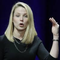 Marissa Mayer stands to collect a $44 million severance package if she leaves after Verizon completes its purchase of the once-mighty internet company. | AP