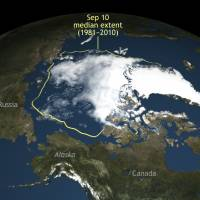 Ominous sign of warming: Arctic sea ice shrinks to second-lowest level on record