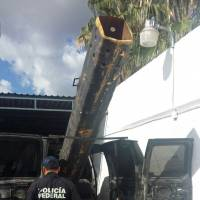 Mexican cops find van with air cannon used to shoot pot into Arizona