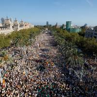 Half a million seen turning out for Catalan separatist rally in Barcelona
