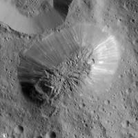 NASA's Dawn orbiter spots inactive volcano on large asteroid Ceres
