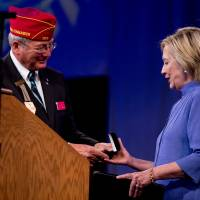 Clinton pitches foreign policy credentials, U.S. 'exceptionalism' to American Legion vets