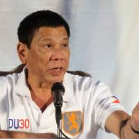 Philippine President Rodrigo Duterte speaks during a news conference in Davao city, southern Philippines, Aug. 21. | REUTERS