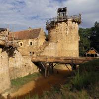 The Chateau de Guedelon undergoes construction near Treigny in the Burgundy region of France on Tuesday. | REUTERS