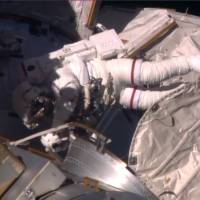 ISS pair take second spacewalk in two weeks to retract radiator