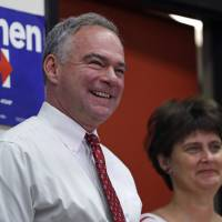 Kaine blames Clinton's classified email errors on 'improper labeling'