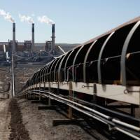 A conveyor belt carries coal to Jim Bridger Power Plant outside Point of the Rocks, Wyoming, in this file photo. | REUTERS
