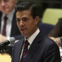 Walls can't stop immigration, culture mix, Pena Nieto tells U.N.