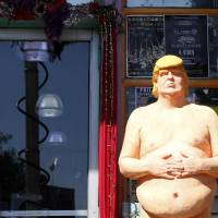 Proceeds for immigrant advocacy group when nude Trump statue goes on block