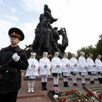 Ukraine marks infamous Babi Yar massacre of 34,000 Jews on 75th anniversary