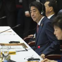 Abe tells Asian leaders of 'serious concern' with China posturing in South China Sea