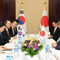 Abe, Park agree to coordinate response on North Korea missile launches