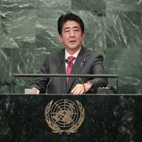 Abe urges world to find 'new means' to stop North Korea