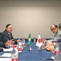 Abe holds first talks with Brazil's new president