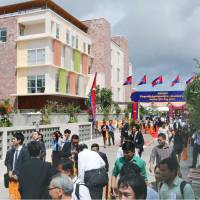 Sunrise Japan Hospital, seen Tuesday, is the first Japanese private hospital to open in Phnom Penh. | KYODO