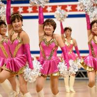Grannies stay young through cheerleading