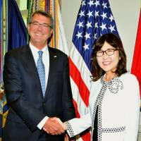 Inada meets Carter during Washington visit
