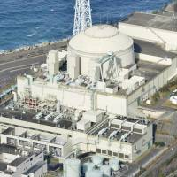 The Monju fast-breeder reactor is seen in Tsuruga, Fukui Prefecture, in January. | KYODO