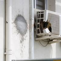 A rocket struck the office of a U.N. peacekeeping commander in Juba in July. The damage has since been repaired, as seen in this photo dated Aug. 25.   KYODO