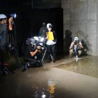 Toyosu market basement areas created for emergency cleanup work