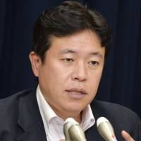 Drop in budget request unrelated to base feud, new Okinawa affairs minister says