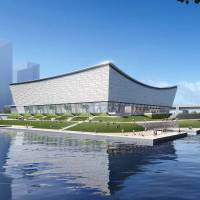 Ariake Arena, the designated site for volleyball during the 2020 Olympics, is one of three facilities that are reported to be under review. In 2014, officials tore up plans to build new venues for basketball, badminton and sailing. | TOKYO METROPOLITAN GOVERNMENT