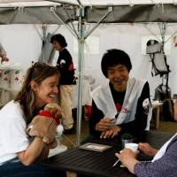 MSF Japan staff assist communities after the Great East Japan Earthquake in Tohoku in 2011.   COURTESY OF MEDECINS SANS FRONTIERES JAPAN