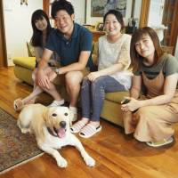 Caramel the golden retriever finds a family in Tokyo